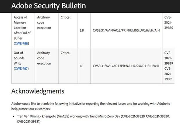 Ingeniero informatico de Vietnam detecta vulnerabilidades graves en Microsoft y Adobe hinh anh 2