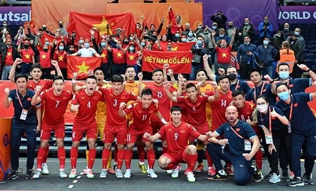 FIFA y AFC alaban esfuerzos de seleccion vietnamita de futbol sala hinh anh 1