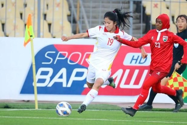 Copa Asiatica Femenina de Futbol: Vietnam derrota a Maldivas hinh anh 1