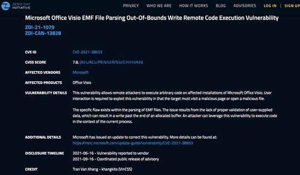 Ingeniero informatico de Vietnam detecta vulnerabilidades graves en Microsoft y Adobe hinh anh 3