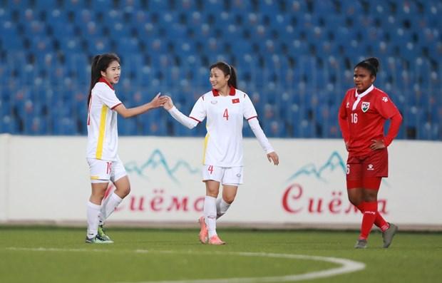 Copa Asiatica Femenina de Futbol: Vietnam derrota a Maldivas hinh anh 2