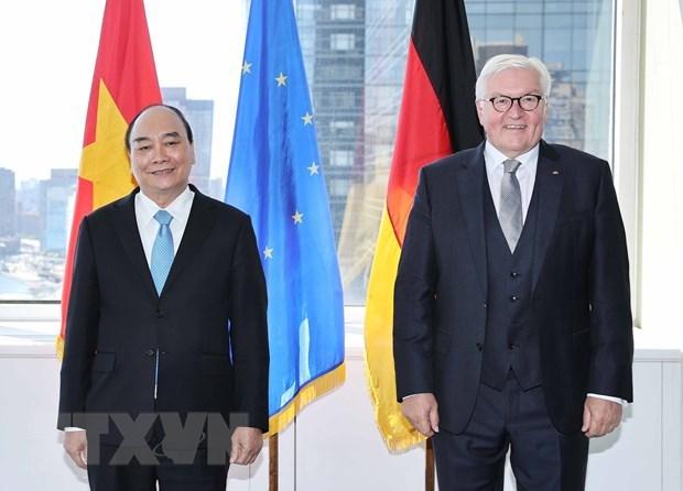 Presidente de Vietnam se reune con su homologo aleman y concluye agenda en EE.UU. hinh anh 1