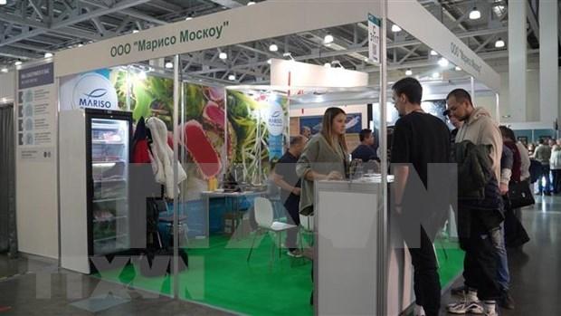 Presentan productos vietnamitas en exposicion de alimentos en Rusia hinh anh 1