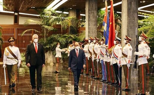Viaje del presidente vietnamita a Cuba y EE.UU.: Exito de la diplomacia de vacunas hinh anh 1