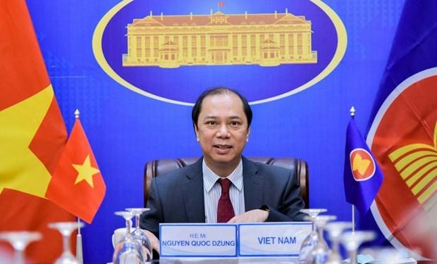 Participa Vietnam en reunion preparatoria de altos funcionarios de la ASEAN hinh anh 1
