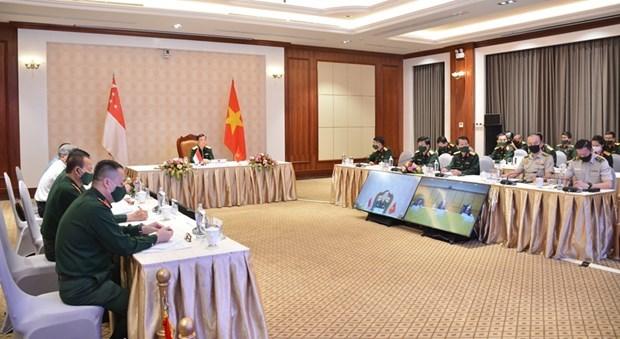 Efectuan Vietnam y Singapur duodecimo dialogo de politica de defensa hinh anh 1
