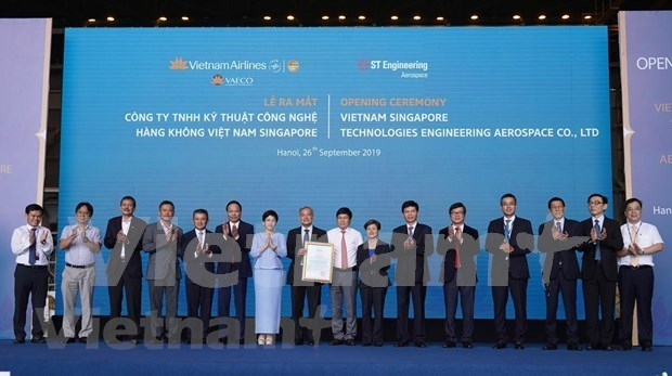 Debuta primera compania conjunta Vietnam- Singapur para mantenimiento de aeronaves hinh anh 2