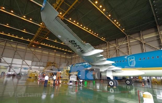 Debuta primera compania conjunta Vietnam- Singapur para mantenimiento de aeronaves hinh anh 1