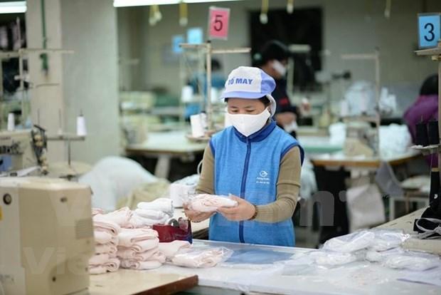 Companias vietnamitas responden a la demanda interna de mascarillas sanitarias hinh anh 1