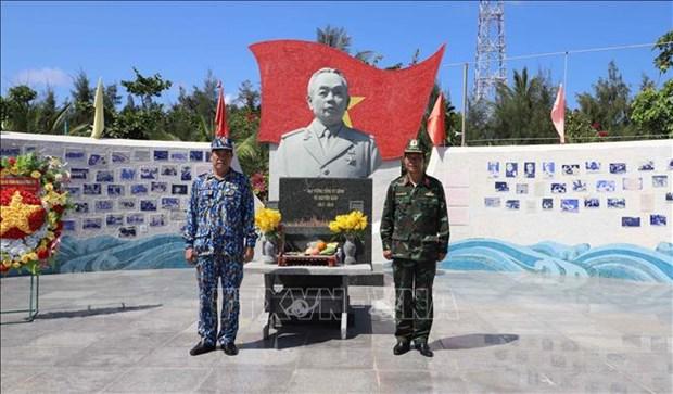 Estatua del general Vo Nguyen Giap en isla de Son Ca hinh anh 1