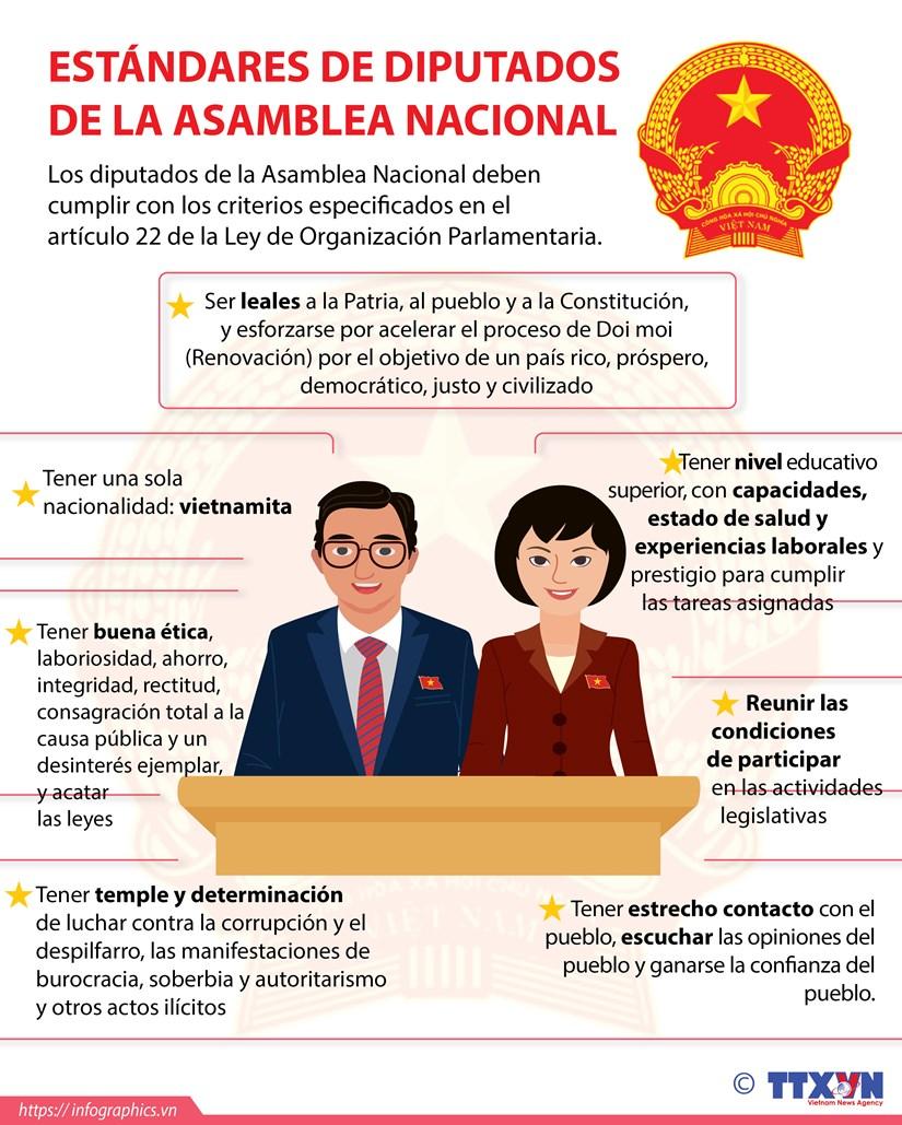 Estandares de diputados de la Asamblea Nacional de Vietnam hinh anh 1