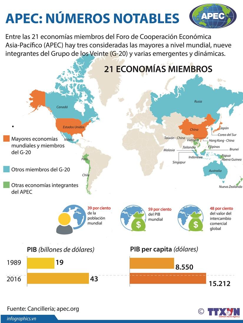 [Infografia] APEC: Numeros notables hinh anh 1