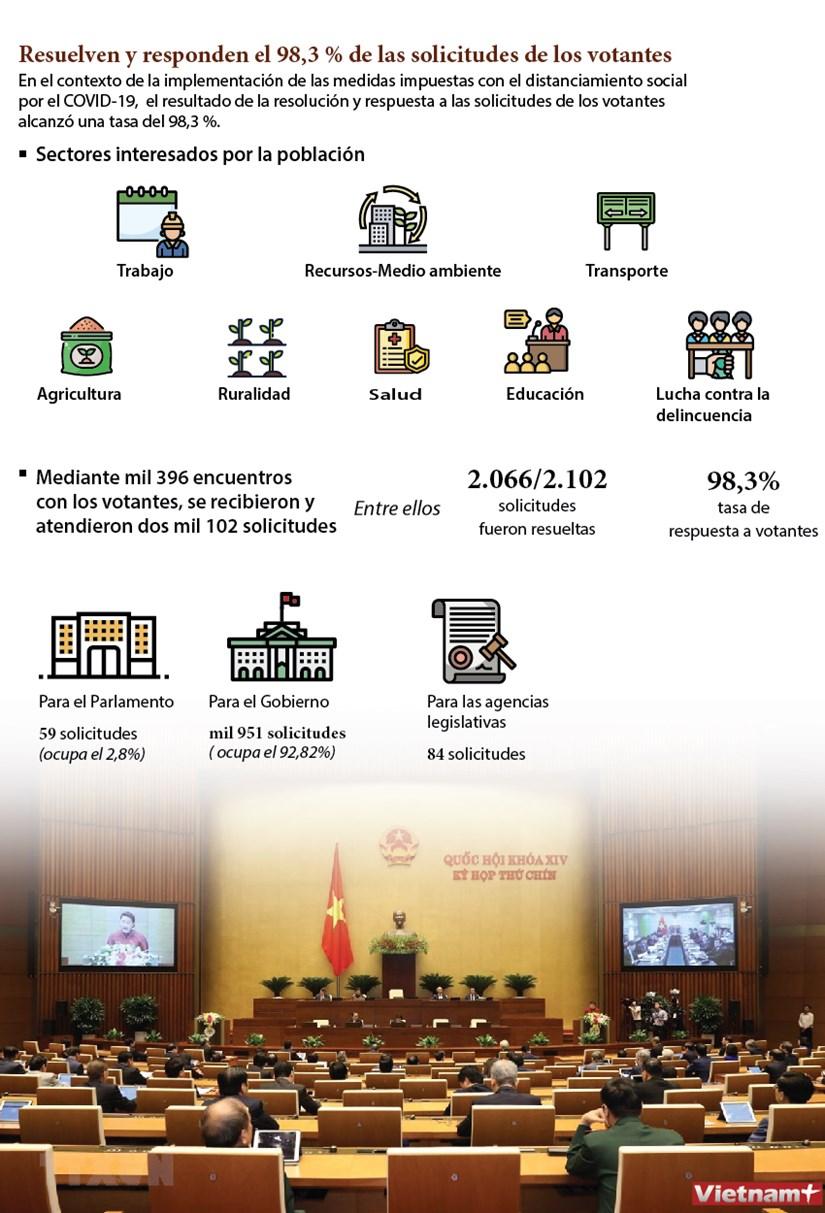 Resuelven y responden el 98,3 % de las solicitudes de los votantes hinh anh 1