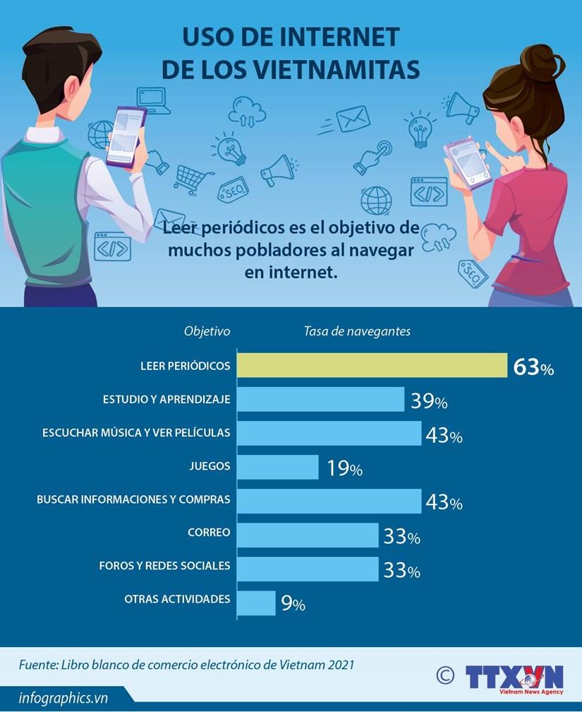 El 63 por ciento de los vietnamitas usa internet para leer periodicos hinh anh 1