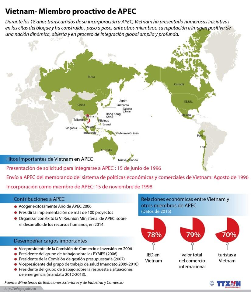 [Infografia] Vietnam, miembro activo de APEC hinh anh 1