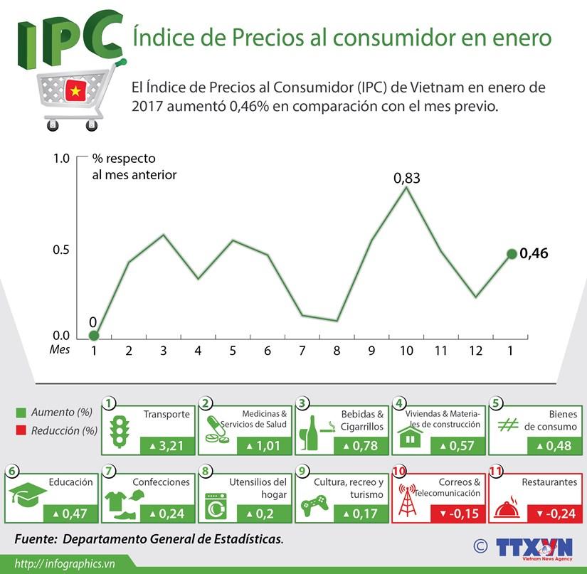 [Infografia] En alza Indice de Precios al Consumidor de Vietnam en enero hinh anh 1