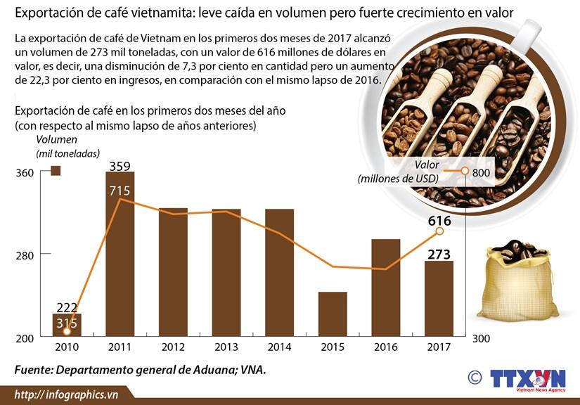 Fuerte crecimiento del valor de exportacion de cafe vietnamita hinh anh 1