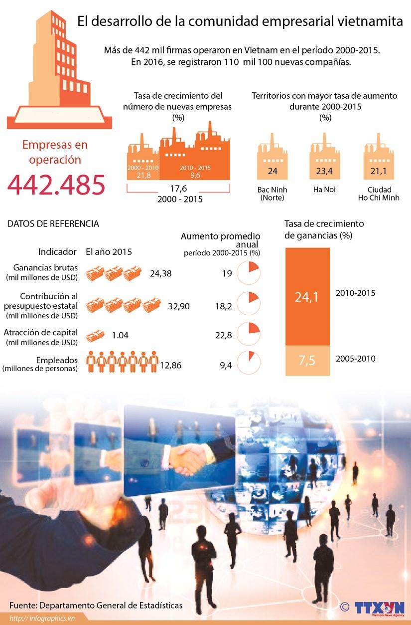 [Infografia] El desarrollo de la comunidad empresarial de Vietnam hinh anh 1