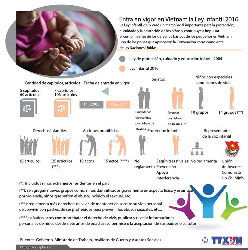 Entra en vigor Ley Infantil 2016 de Vietnam hinh anh 1