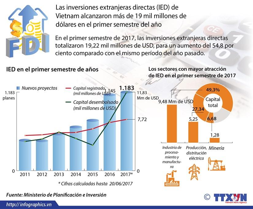 Inversiones extranjeras directas alcanzan mas de 19 mil millones de dolares hinh anh 1