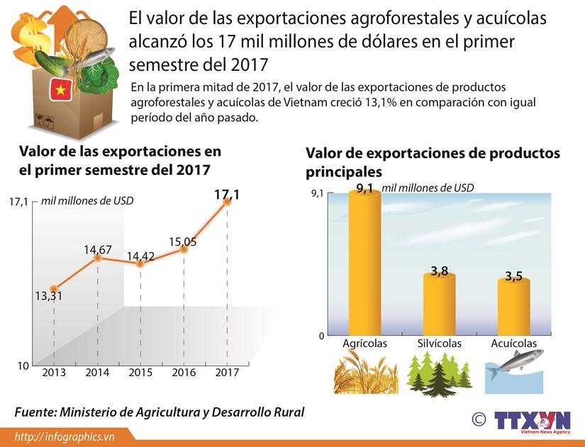 Valor de las exportaciones agroforesales y acuicolas crece 13,1 por ciento hinh anh 1
