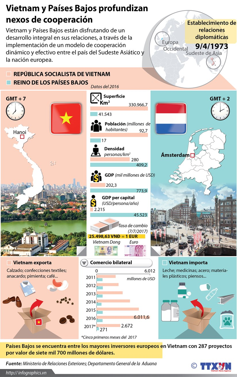 [Infografia] Vietnam y Paises Bajos profundizan nexos de cooperacion hinh anh 1
