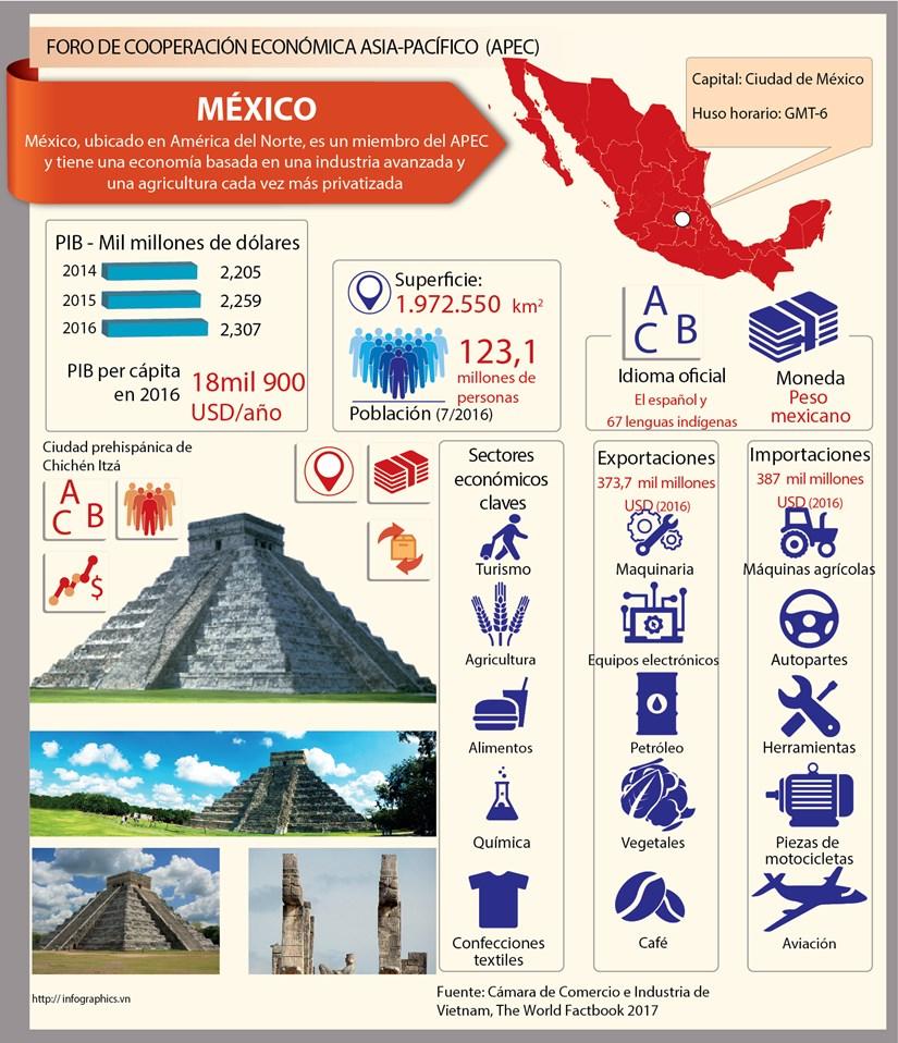 [Infografia] Mexico - un miembro de APEC hinh anh 1