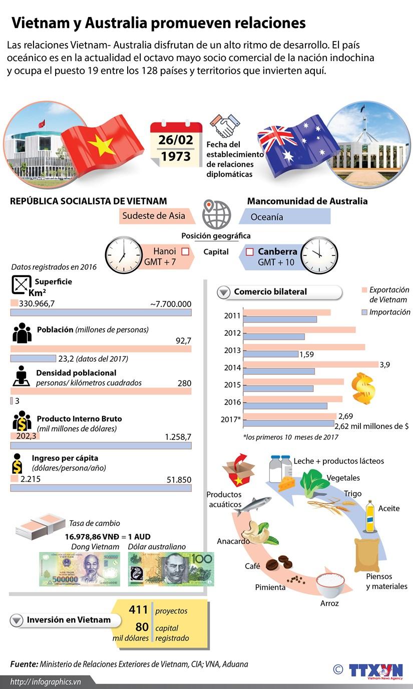 [Infografia] Vietnam y Australia promueven relaciones hinh anh 1