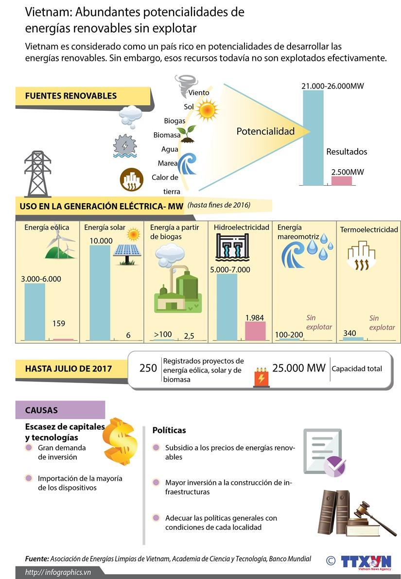 [Infografia] Grandes potencialidades de Vietnam en desarrollo de energias renovables hinh anh 1