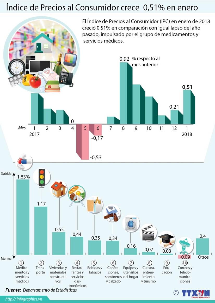 Indice de Precios al Consumidor crece 0,51 por ciento en enero hinh anh 1