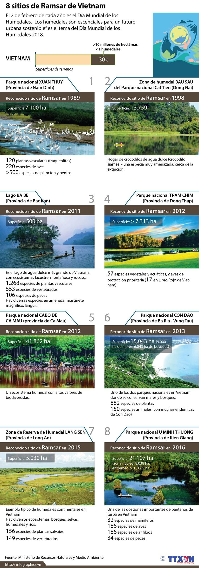 Ocho sitios de Ramsar de Vietnam hinh anh 1