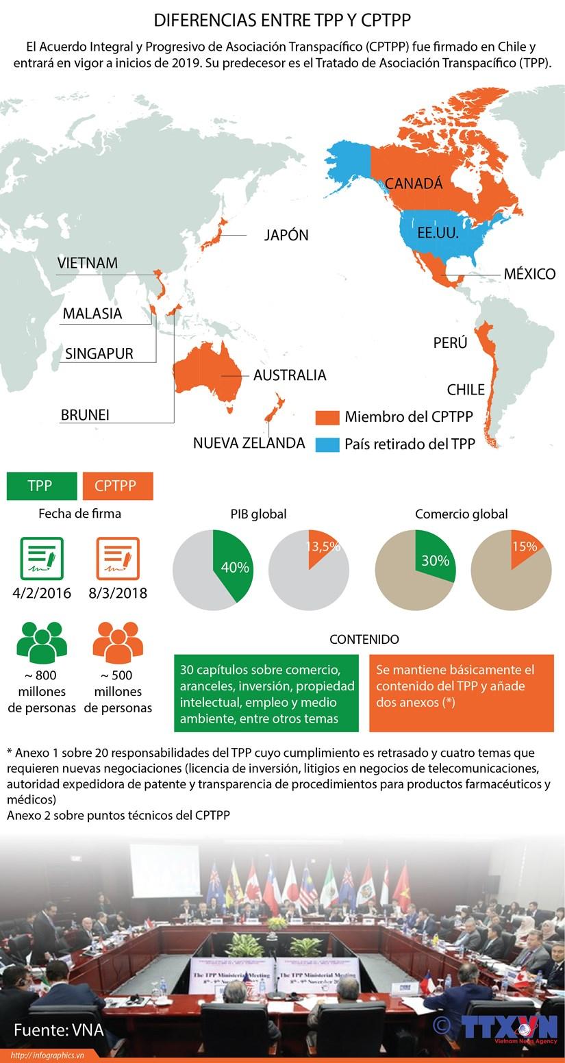 [Infografia] Diferencias entre TPP y CPTPP hinh anh 1
