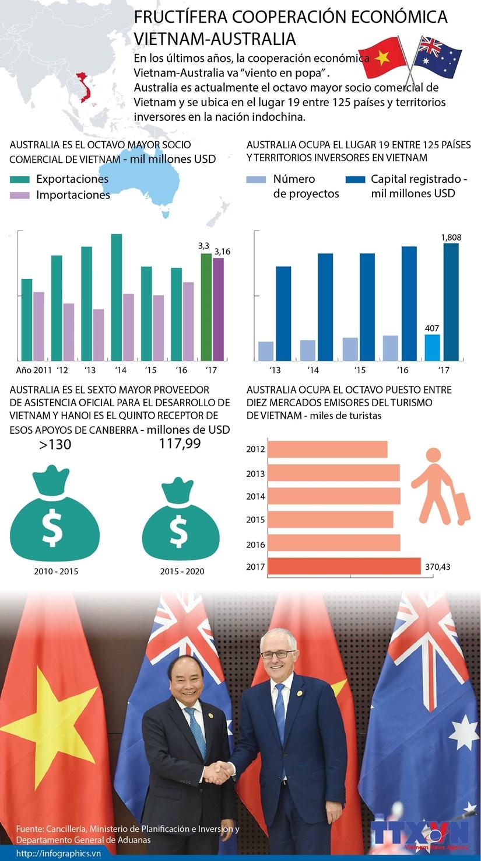[Infografia] Fructifera cooperacion economica Vietnam-Australia hinh anh 1