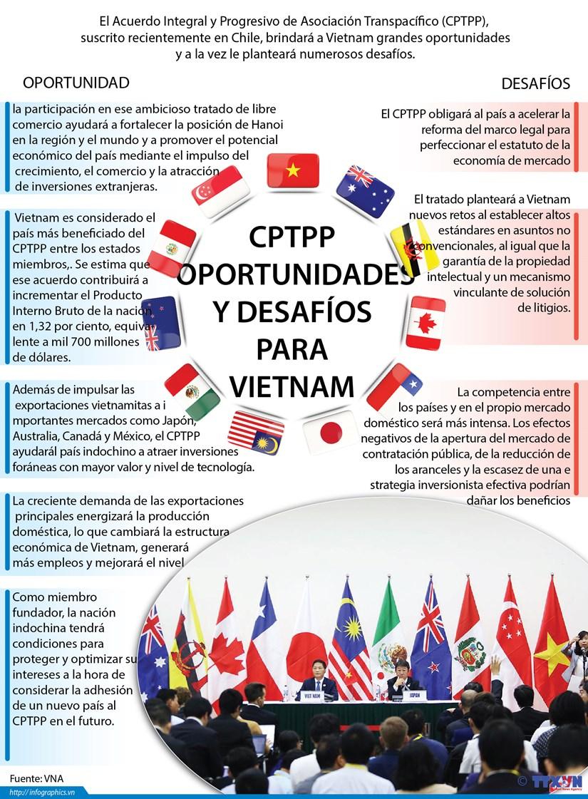 [Infografia] CPTPP: Oportunidades y desafios para Vietnam hinh anh 1