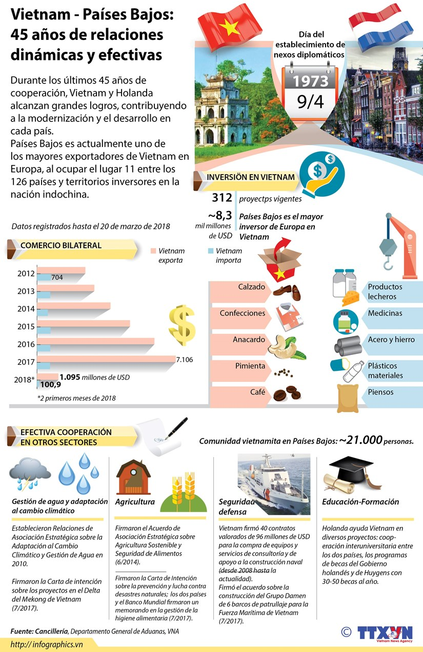 [Infografia] Vietnam - Paises Bajos: 45 anos de relaciones dinamicas y efectivas hinh anh 1