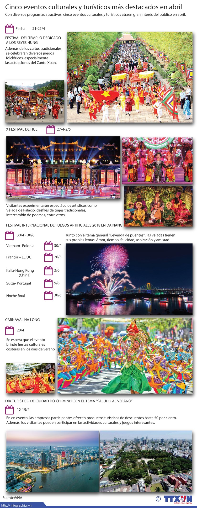 Cinco eventos culturales y turisticos mas destacados en abril hinh anh 1