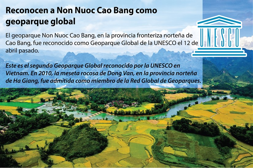 [Info]Reconocen a Non Nuoc Cao Bang como geoparque global hinh anh 1