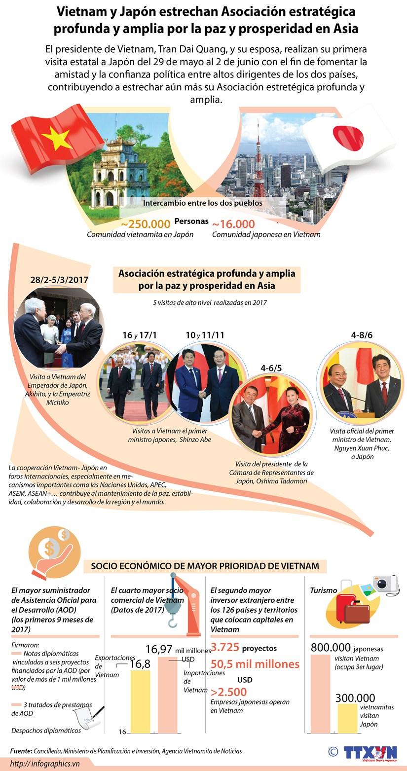 [Infografia] Vietnam y Japon estrechan Asociacion estrategica por la paz y prosperidad en Asia hinh anh 1