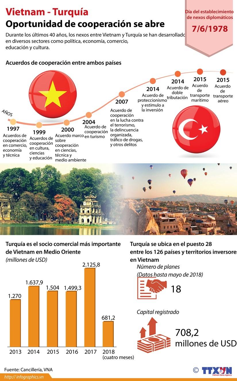 [Infografia] Vietnam-Turquia: Oportunidad de cooperacion se abre hinh anh 1