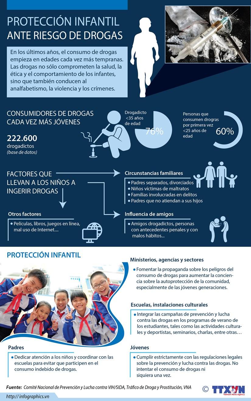 [Infografia] Proteccion infantil ante riesgo de drogas hinh anh 1