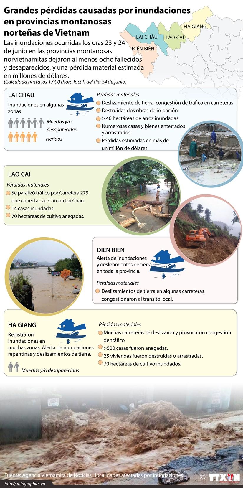 [Infografia] Grandes perdidas causadas por inundaciones en Vietnam hinh anh 1