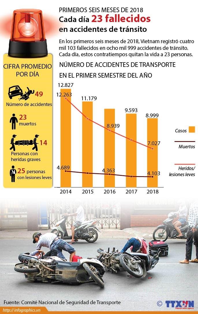 [Infografia] Cada dia 23 fallecidos en accidentes de transito en Vietnam hinh anh 1