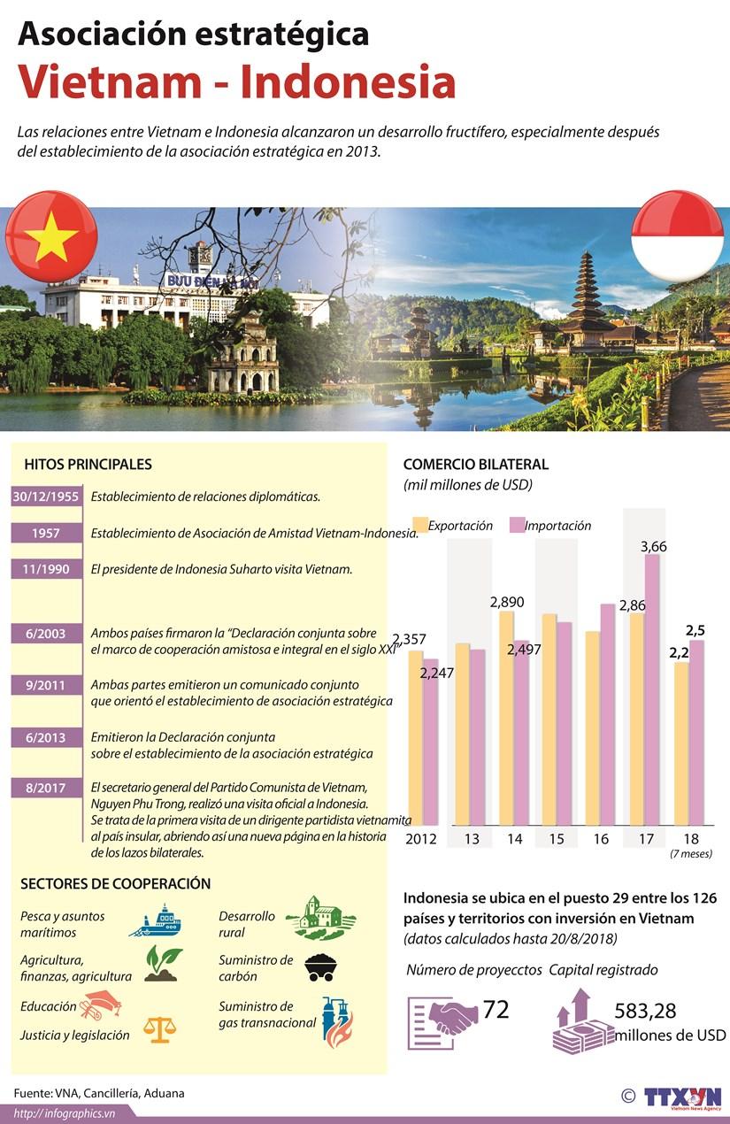 [Infografia] Asociacion estrategica Vietnam - Indonesia hinh anh 1