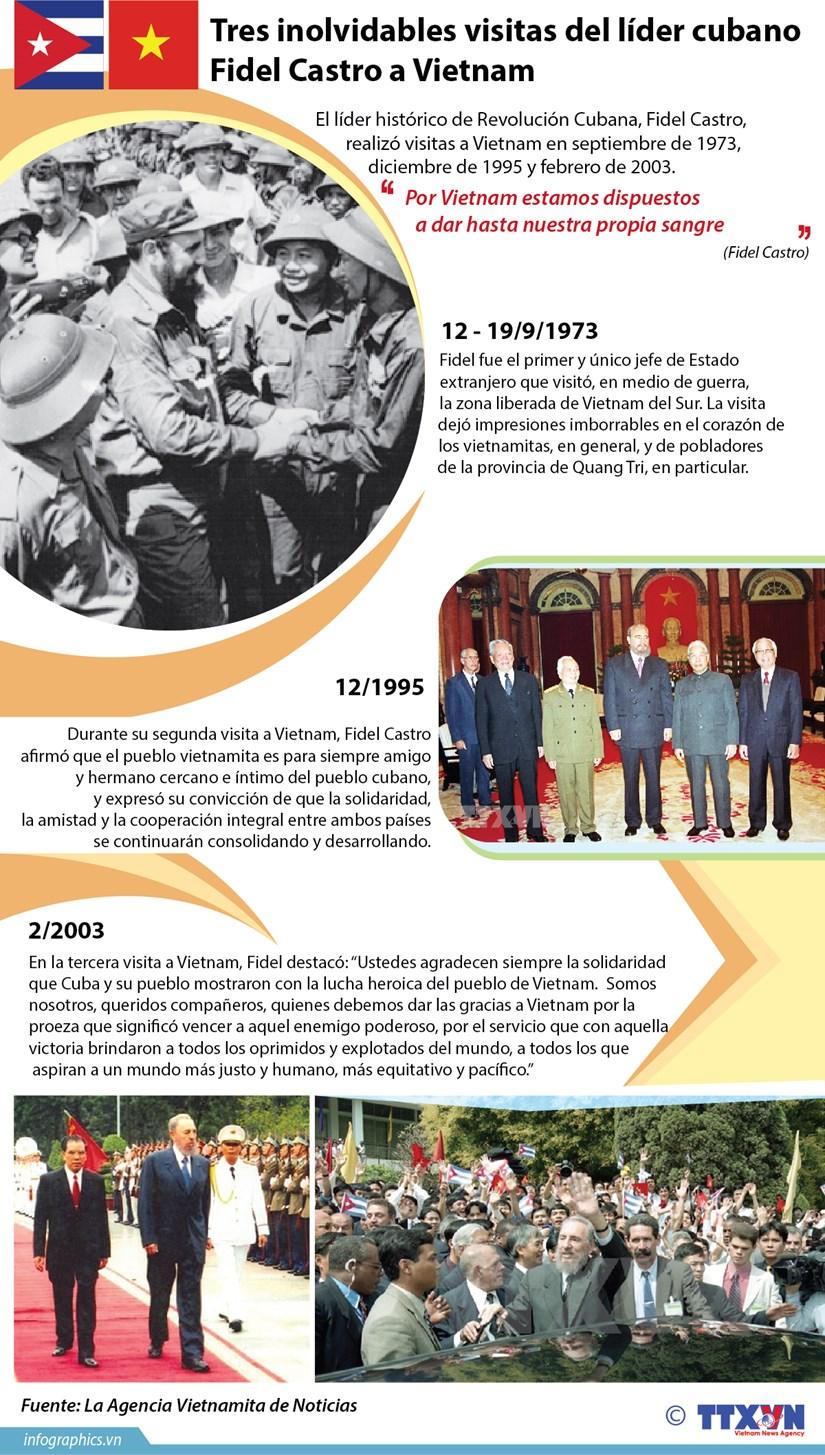 (Info) Tres inolvidables visitas del lider cubano Fidel Castro a Vietnam hinh anh 1