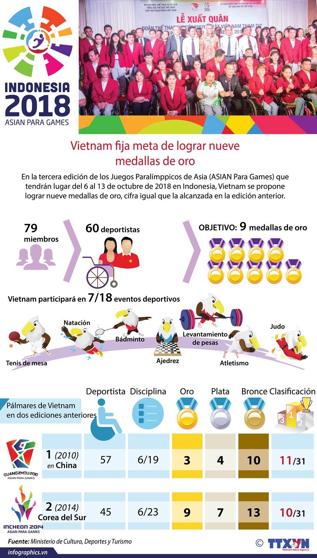 [Info] Vietnam traza meta de lograr nueve medallas de oro en los Juegos Paralimpicos hinh anh 1