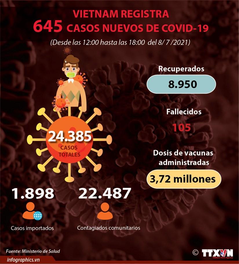Vietnam registra nuevo record de casos diarios de COVID-19 hinh anh 1