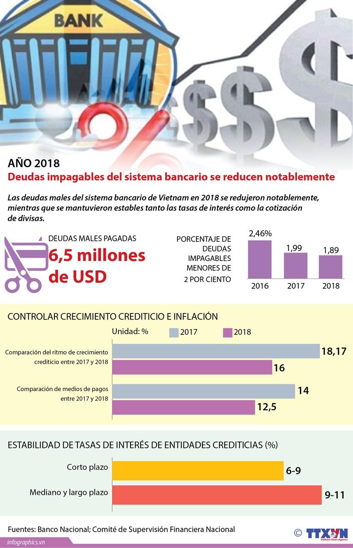 [Info] Las deudas malas del sistema bancario de Vietnam en 2018 se reducen notablemente hinh anh 1