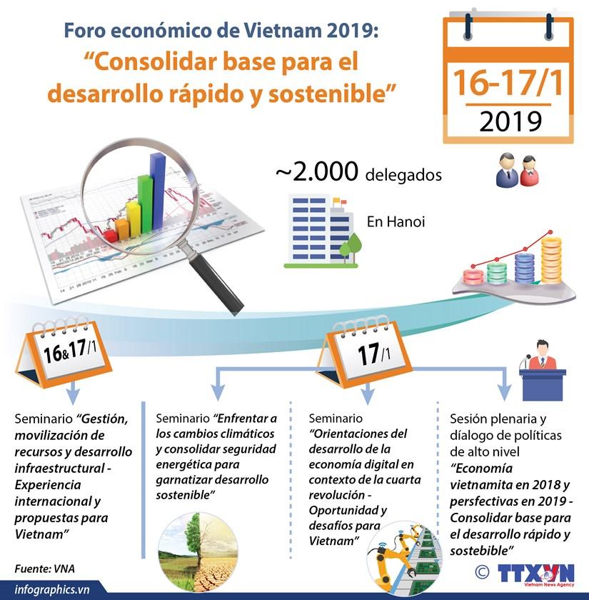 [Info] Foro economico de Vietnam 2019 en Hanoi hinh anh 1