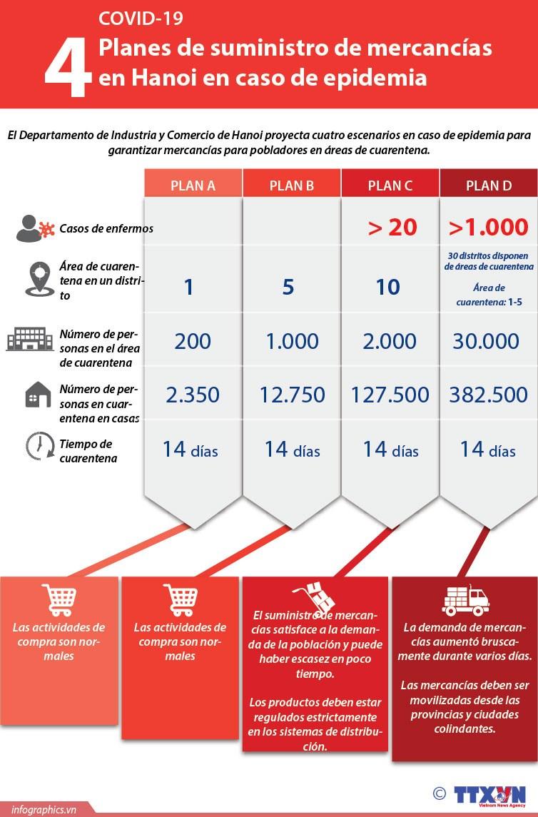 [Info] Planes de suministro de mercancias en Hanoi en caso de epidemia hinh anh 1