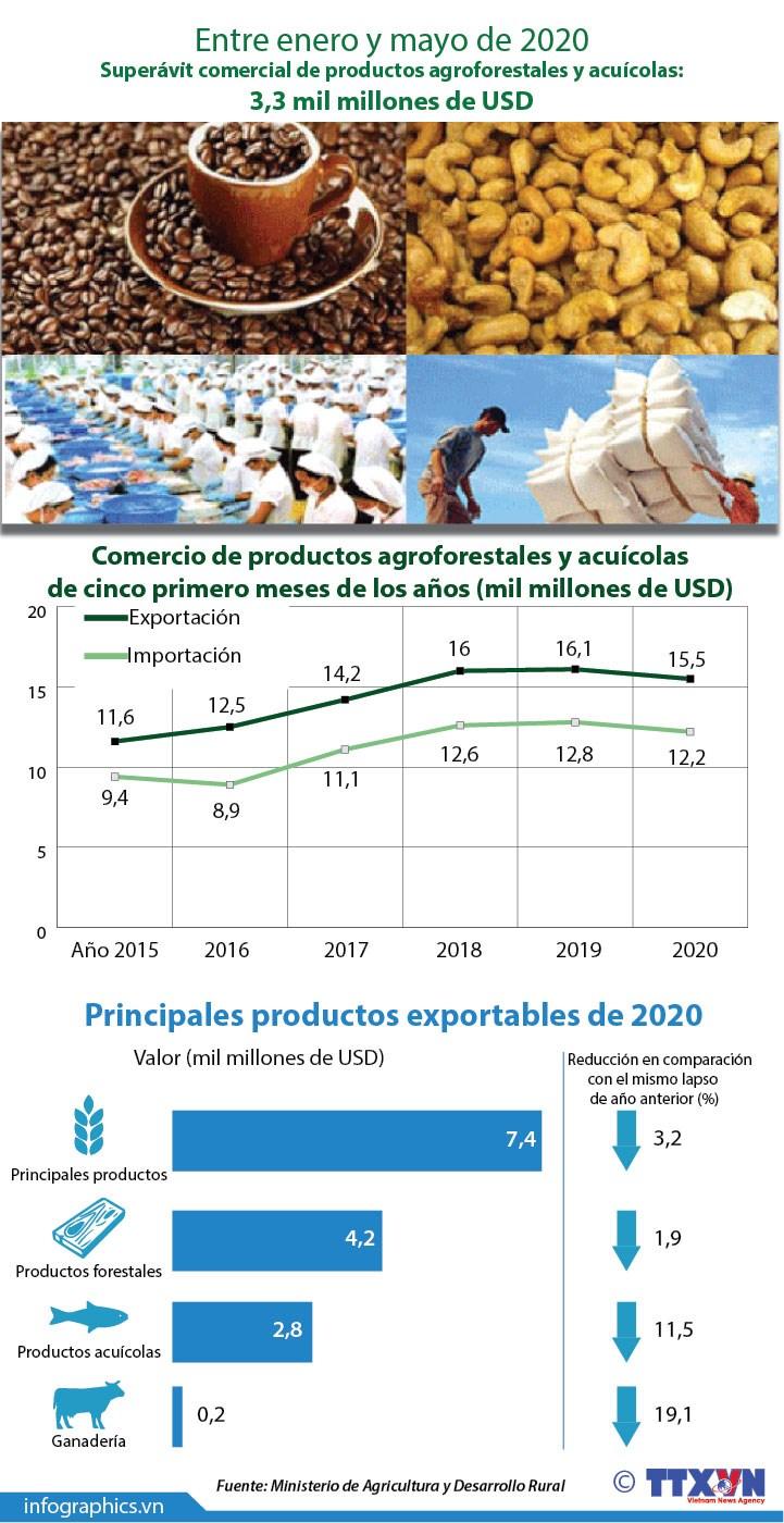 [Info] Superavit comercial de productos agroforestales y acuicolas supera los tres mil millones de dolares hinh anh 1